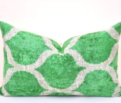 Green Farmhouse Decor Velvet Pillow