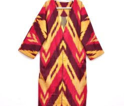 Handwoven Ikat Fabric Robe Chapan