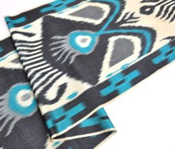 Colorful Silk Cotton Blended Ikat Fabric
