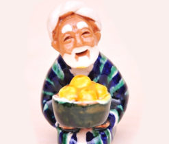 Small Ceramic Figure Friendly Uzbek Father