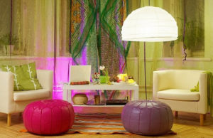 Moroccan poufs for the interior