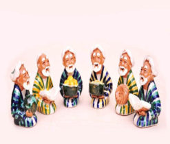 Wise Men Gathering Figurines Ceramic Handmade