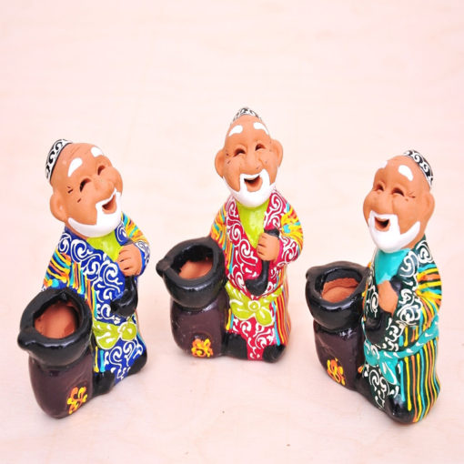 Ceramic Handmade Souvenir Happy Old Friends
