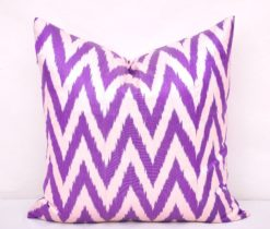 Chevron Ikat Pillow Orchid Accent Case