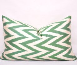 Green Chevron Accent Sofa Pillow