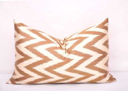 Chevron Decorative Couch Brown Pillow