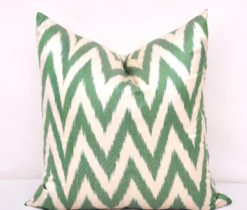 Classic Green Chevron Decorative Pillow