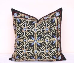 New Chic Handmade Black Suzani Pillow