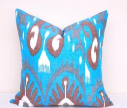 Blue Patio Throw Toss Pillow