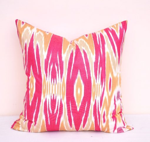 Environmentally Friendly Ikat Pillow Case