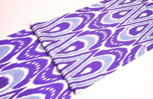 Cotton Silk Ikat Fabric Meters Sale