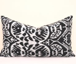 Multi Decor Ikat Velvet Accent Pillowcase