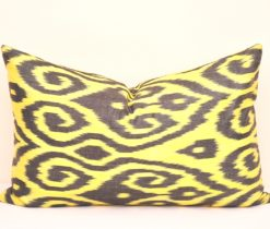 Yellow Organic Cotton Lumbar Pillow