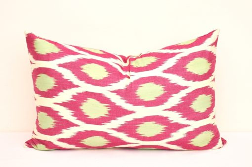 Ikat Silk Jacquard Pillow Cover