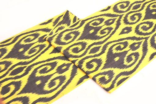Yellow Fabric Ikat Texture