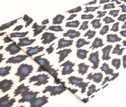 Black Blue Cotton Ikat Fabric