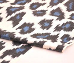 Black Blue Cotton Ikat