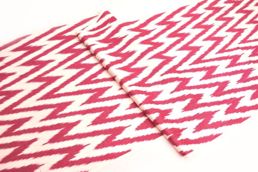 Lovely Red Chevron Cotton Fabric Wholesale