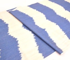 Wider Blue Trendy Ikat Designer Fabric