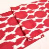 Organic Cotton Red Ikat Fabric