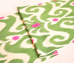 Green Ikat Handmade Fabric