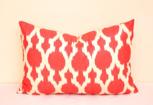 Red Modern Accent Pillow