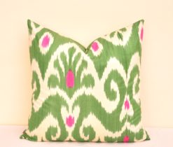 Green Cotton Pillow