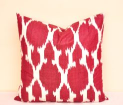 Decorative Red Throw Ikat Fabric