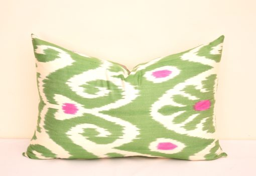 Green Cotton Lumbar Sofa Pillow