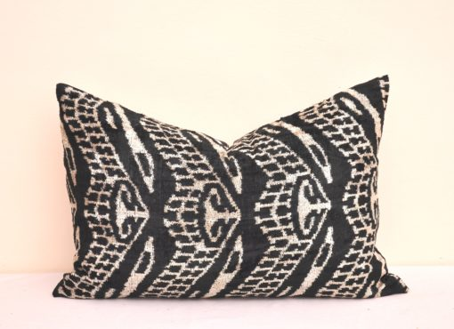 Shop Velvet Ikat Dual Sided Bed Pillow