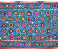 Blue Suzani Hand Emboidered Textile