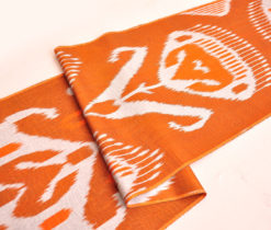 Orange Silk Cotton Fabric