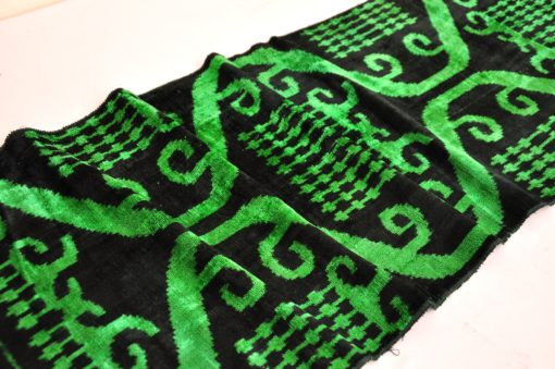 Green Velvet Fabric By The Yard