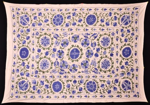 Blue Suzani Home Decor Tapestry