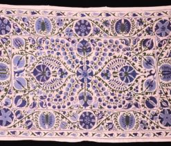 Blue Upholstery Vintage Design Fabric