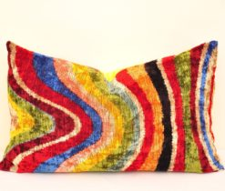 Colorful Velvet Accent Pillow
