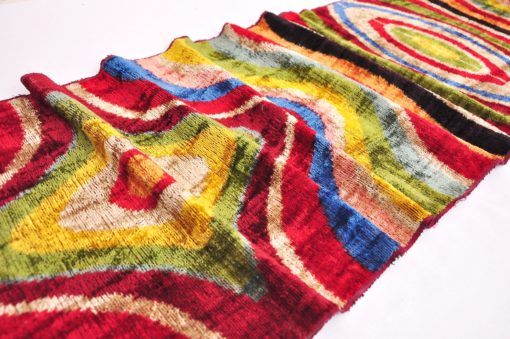 Colorful Silk Woven Organic Fabric