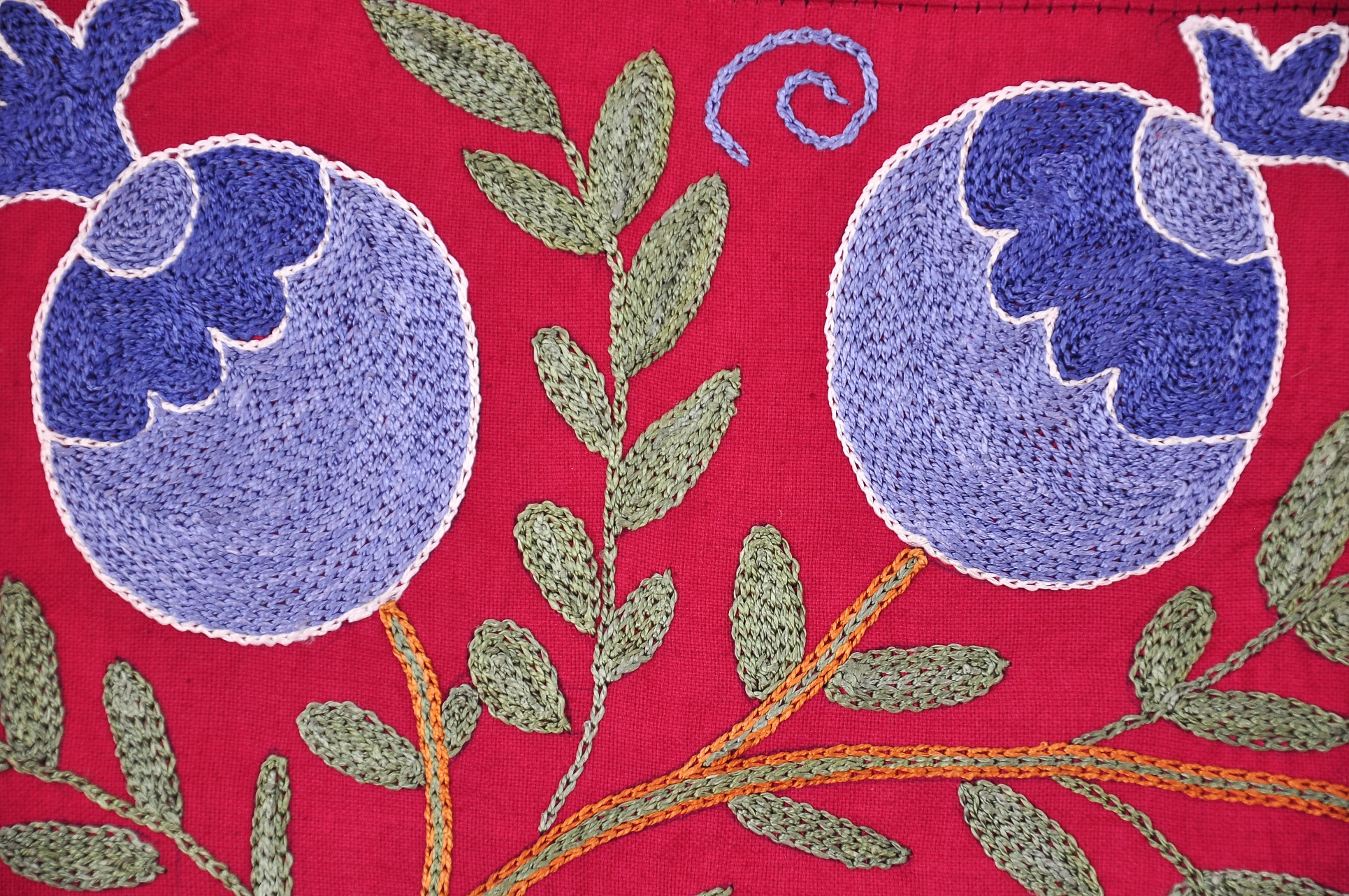 Rozelle Suzani Embroidered Table Throw Embroidery Tapestry