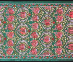 Green Ottoman Suzani Embroidered Fabric