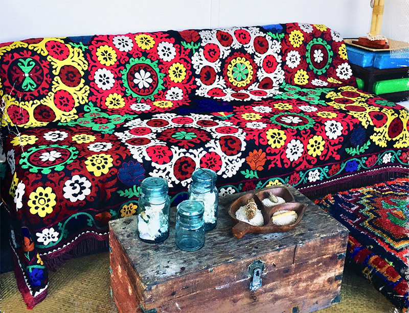 Suzani for home décor and upholstery
