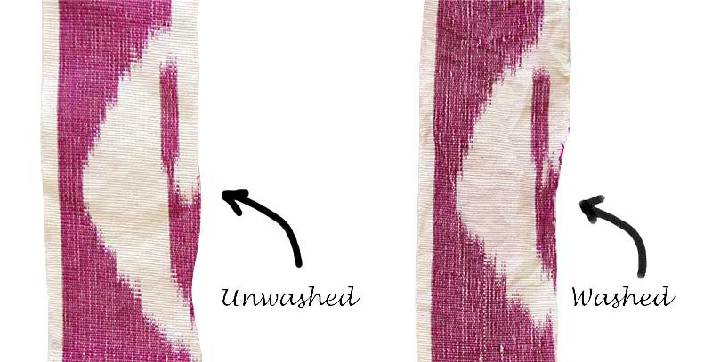 How to wash ikat fabric