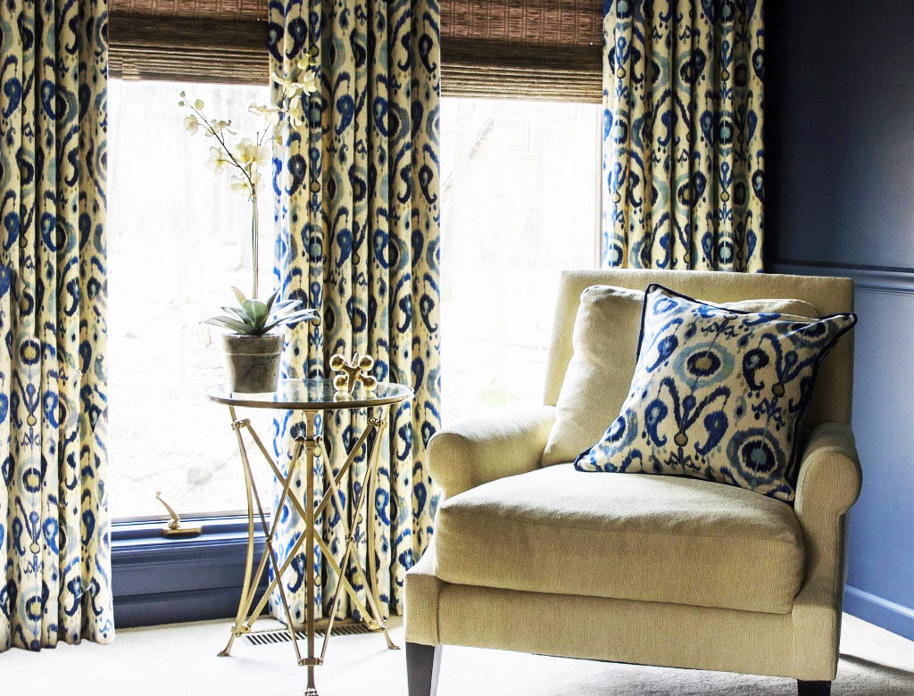 Ikat curtains