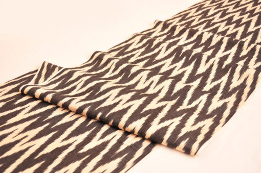 Black Chevron Ikat Fabric
