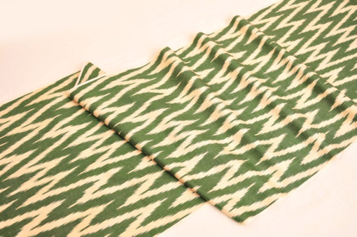 Green Chevron Ikat Fabric