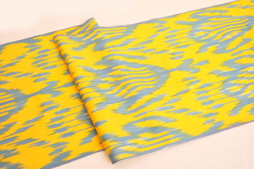 Yellow Ikat Fabric Yard