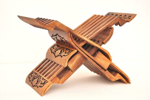 Wooden Book Stand Hand Carving