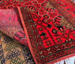 Red Decorative Turkish Rug