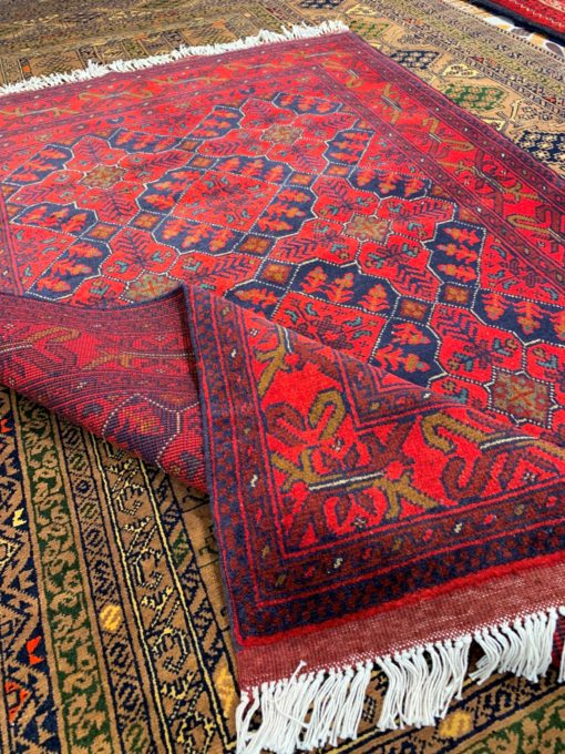 Dark Red Hand Knotted Rug