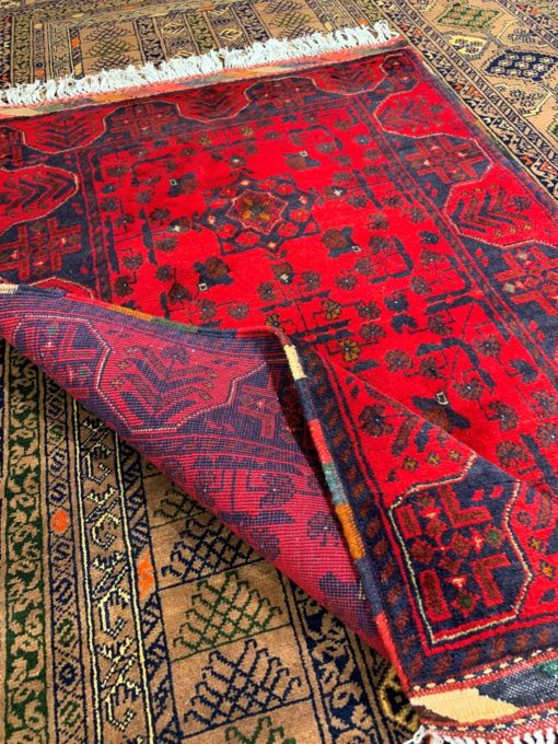 Dark Red Hand Made Turkish Rug