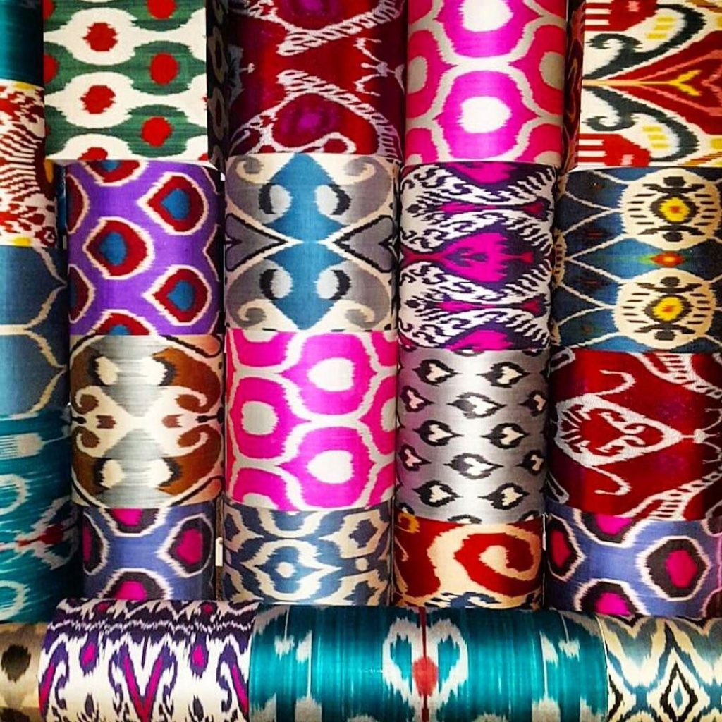 The most beautiful textiles in the world are Uzbek ikat and suzani